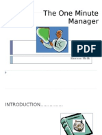 Story of One Minute Manager Ppt