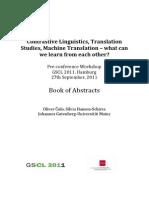 Contrastive Linguistics-Translation Studies-Machine Translations