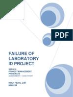 BEN610_Failure of Laboratory ID Project_1