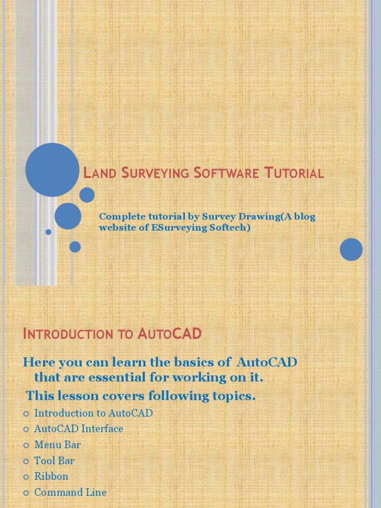Land Surveying Software(AutoCAD) Tutorial