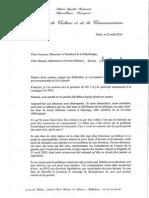 Lettre ouverte d'Aurélie Filippetti à François Hollande et Manuel Valls (lundi 25 août 2014)
