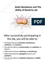Lab 9 - Antibiotic Resistance and the Susceptibility of Bacteria Lab Fall 2014