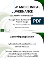 THE LAW AND CLINICAL GOVERNANCE