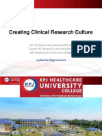 Creating Clinical Research Culture