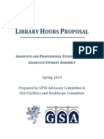 Yale GSA GPSS Library Report 2014
