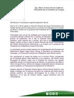 25-08-14 Beneficiará a Tamaulipas la agenda legislativa