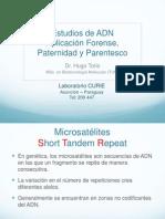 2014 Estudios de ADN Aplicación Forense, Paternidad y Parentesco
