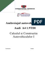 Proiect Ambreiaj CCA