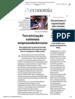 A Notícia - An Economia - Terceirização Estimula Empreendedorismo