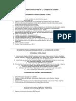 Requisitos Para La Solicitud de La Licencia de Licores