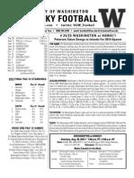UW-Hawaii game notes