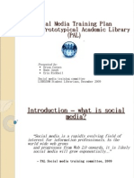 rototypical Academic Library (PAL) Social Media Training Presentation