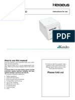 Heraeus Biofuge Haemo - User Manual
