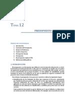 Tema 12. Presupuesto