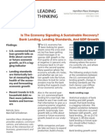 Is the Economy Signaling a Sustainable Recovery