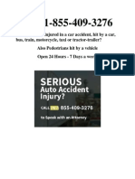 Call 1-855-409-3276 if You Have Been Injured in a Car Accident or Pedestrian Hit by a Car and Need Attorneys, Lawyers and Law Firms to Help