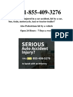 Call 1-855-409-3276 if You Have Been Injured in a Car