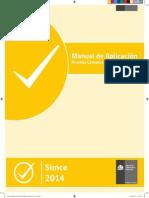 Manual Aplicacion Censales Experimentales SIMCE 2014