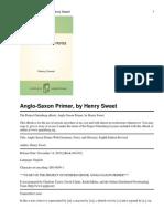 Anglo Saxon Primer