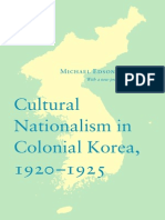 Cultural Nationalism in Colonial Korea, 1920-1925