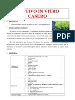 Cultivo in Vitro Casero-1