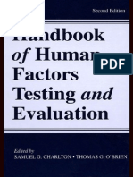 Handbook of Human Factors Testing and Evaluation Copia
