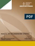 Manual de Org. Regulacion Sanitaria