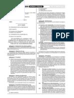 Ley 28295 - Acceso y Uso Compratido de Infraestructura