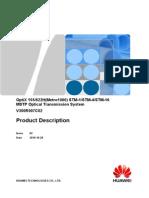 OptiX Metro1000 V300R007C02 Product Description V2.0(20101020)