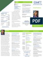 2014 OAMFT  Conference Brochure