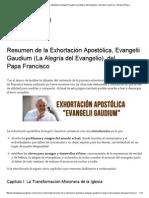 Resumen de La Exhortación Apostólica, Evangelii Gaudium (La Alegría Del Evangelio), Del Papa Francisco _ YoRezoXelPapa