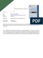 Otin Numerical Model Optimum Frequency IJSS 2013