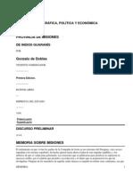 Memoria histórica, geográfica, política y éconómica sobre la provincia de Misiones de indios guaranís by Doblas, Gonzalo de