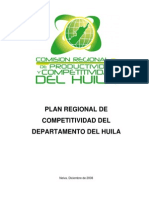 HUILA - Plan Regional de Competitividad - 2008