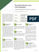 9 Reasons File Geodatabase