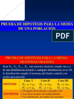 Prueba de Hipotesis Para La Media Poblacional