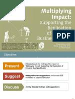 PRESENTATION - Multiplying Impact