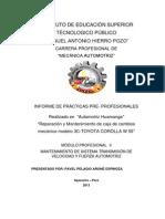Informe de Caja y Velocidades
