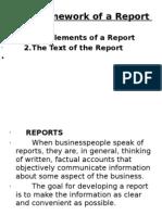framework of a report