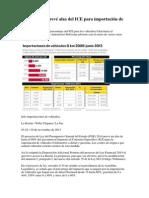 El PGE 2014 Prevé Alza Del ICE Para Importación de Autos 0 Km