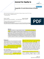 Defining and Measuring Gender a Social Determinant of Health Whose Time Has Come
