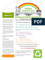 Saskatoon Ostomy Association Bulletin August 2014
