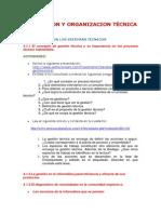 Planeacion y Organizacion Técnica