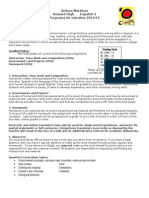 spanish 2 syllabus 2014-15
