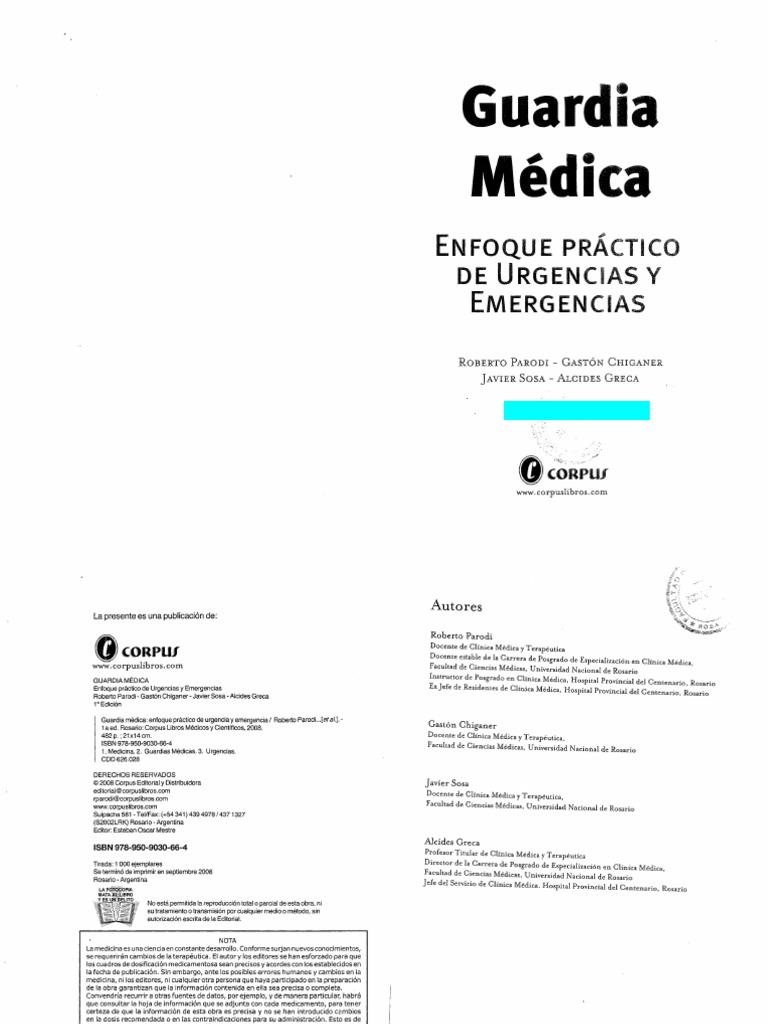 Guardia Médica, Enfoque Práctico de Urgencias y Emergencias
