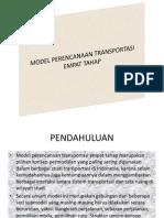Model Perencanaan Transportasi Empat Tahap - Copy