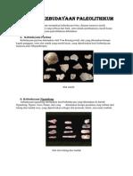 Hasil Kebudayaan Paleolithikum