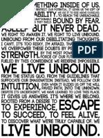 We Live Unbound