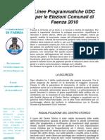 Programma UDC-LTF 2010