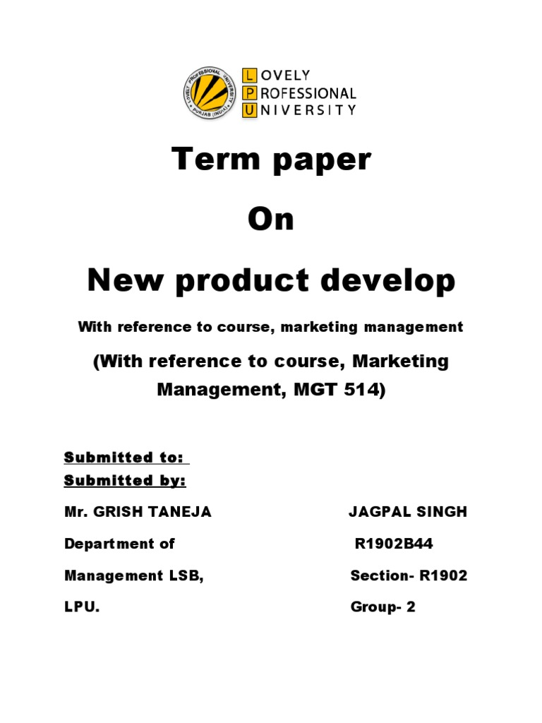 Term paper of marketing